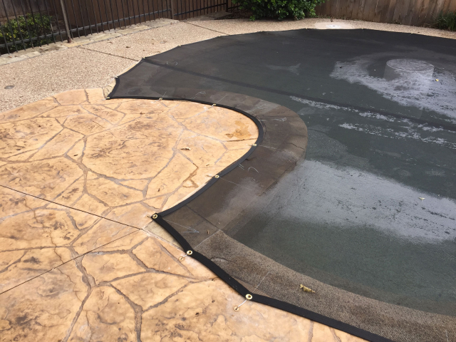 Form-Fitting Pool Cover